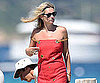 Slide Photo of Kate Moss Wearing Red Dress in St. Tropez