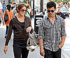 Slide Photo of Eclipse Stars Nikki Reed, Taylor Lautner Walking in Vancouver