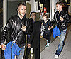 Photos of David Beckham, Who's Talking About a Return to AC Milan, at Heathrow With Son Brooklyn
