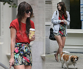 Photos of Mischa Barton on the NYC Set of The Beautiful Life With Her Dog