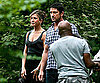 Photo Slide of Jennifer Aniston and Gerard Butler Looking Wet on the NYC Set of The Bounty