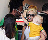 Slide Photo of Gwen Stefani and Zuma Rossdale at LAX