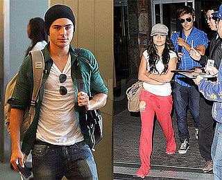 Photos of Zac Efron, Vanessa Hudgens Flying Out of LAX Into Vancouver After Teen Choice Awards