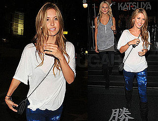 Photos of Audrina Patridge and Stephanie Pratt Leaving Katsuya in LA