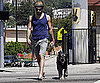 Photo Slide of Zachary Quinto Walking His Dog in LA