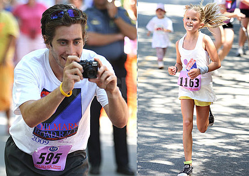 Photos of Jake Gyllenhaal and Ava Phillippe at The Chilmark 5K Road Race on Martha's Vineyard