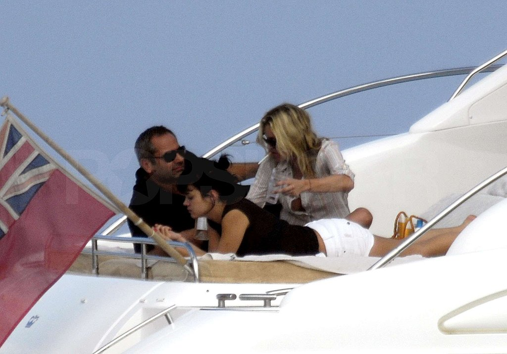 Photos of Kate Moss and Lily Allen on a Yacht