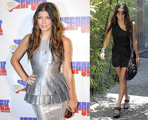 Photos of Fergie in a Short Black Dress and on the Red Carpet