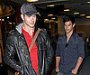Slide Photo of Taylor Lautner, Kellan Lutz Landing at Vancouver Airport