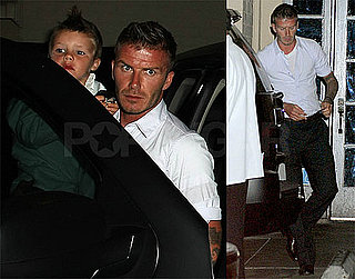Photos of David Beckham, Victoria Beckham, Cruz Beckham at Steakhouse