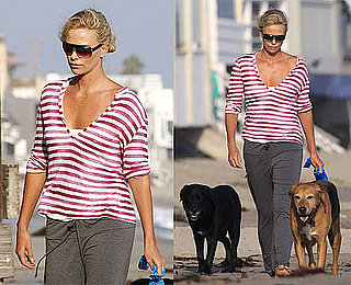 Photos of Charlize Theron Walking Her Dogs in Malibu