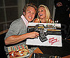 Slide Photo of Heidi Montag, Spencer Pratt With Heidi's Playboy Cover and Spencer's Gun Birthday Cake