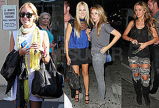 Photos of Audrina Patridge, Lo Bosworth And Stephanie Pratt Out in LA And Filming The Hills