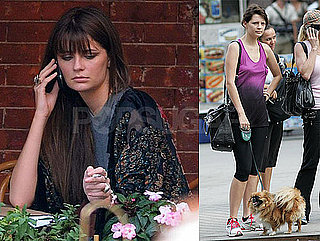 Photos of Mischa Barton Eating Lunch And Filming The Beautiful Life in NYC
