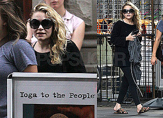 Photos of Mary-Kate Olsen After Yoga in NYC; She's Set to Bartend at Fashion's Night Out During New York Fashion Week