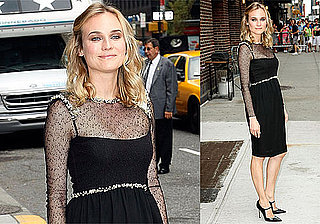 Photos of Diane Kruger on The Late Show, Quentin Tarantino Talks Prequel and Brad Pitt Wants to Join