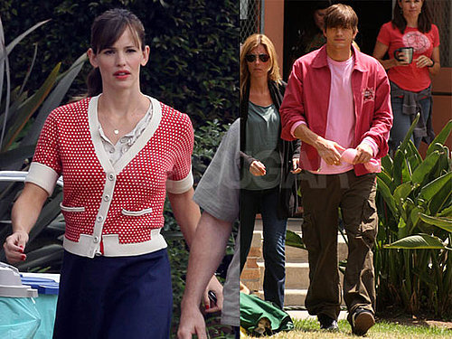 Photos of Jennifer Garner And Ashton Kutcher on The LA Set of Valentine's Day