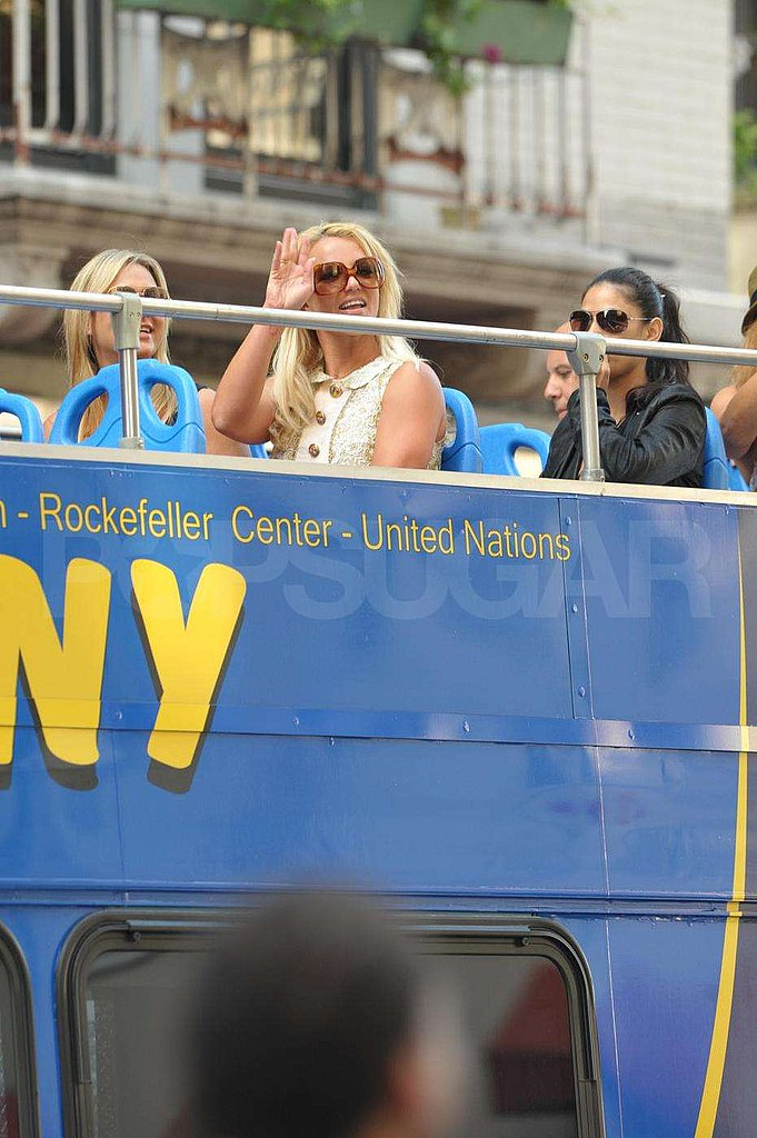 Photos of Britney Spears in NYC on a Bus