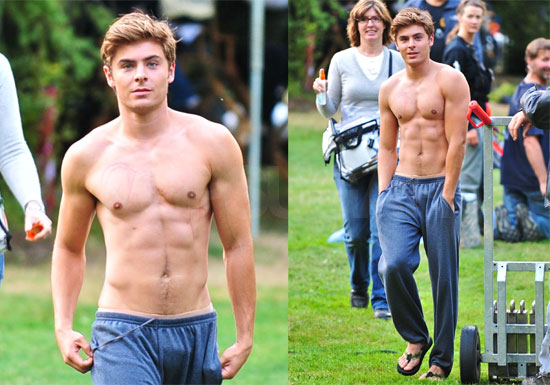 Photos of Shirtless Zac Efron in Canada