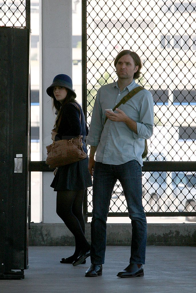 Photos of Zooey Deschanel and Ben Gibbard at LAX