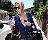 Photo Slide of Lindsay Lohan Leaving Her LA House