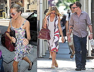 Photos of Sienna Miller and Jonny Lee Miller in NYC After Miss Julie Rehearsal