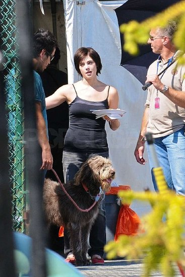 Photos of Ashley Greene on Set in Vancouver