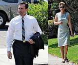 Photos of Jon Hamm and January Jones on Set