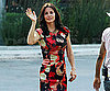 Photo Slide of Courteney Cox on The LA Set of Cougar Town Waving