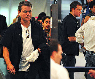 Photos of Matt Damon at LAX; His H20 Foundation Helped Build a Well in Ethiopia