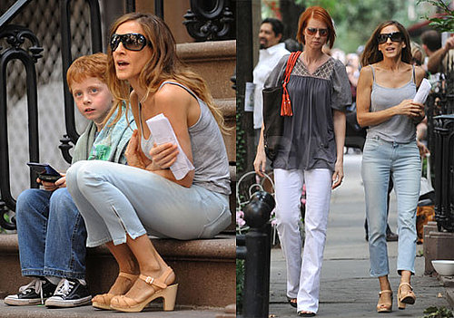 Photos of Sarah Jessica Parker and Cynthia Nixon Filming Sex and the City 2 in NYC