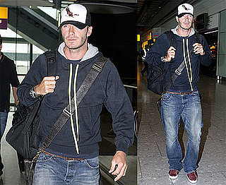 Photos of David Beckham Arriving at Heathrow Airport