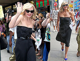 Photos of Kim Cattrall on The NYC Set of Sex And The City 2