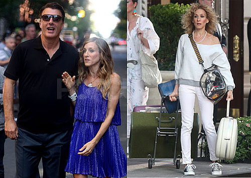 Photos of Sarah Jessica Parker And Chris Noth Working on Sex And The City 2 in NYC