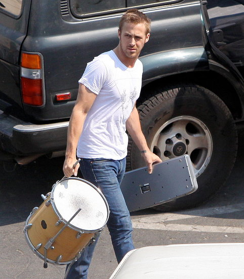 Photos of Ryan Gosling at band practice