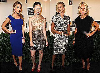 Photos of Charlize Theron, Anna Wintour, Rachel Zoe, Zac Posen, Blake Lively, and Penn Badgley at a Saks Party in NYC