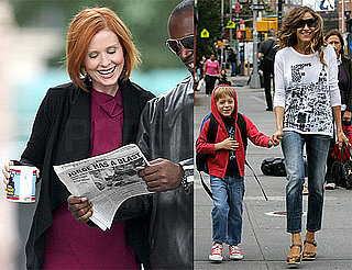 Photos of Sarah Jessica Parker, Cynthia Nixon, and James Wilkie Broderick Around the NYC Set Sex and the City 2