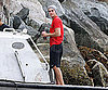 Slide Photo of Zac Efron on a Boat for The Death and Life of Charlie St Cloud