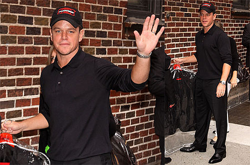 Photos and Video of Matt Damon on The Late Show 2009-09-11 10:00:15