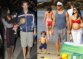 Photos of Matthew McConaughey, Pregnant Camila Alves, And Levi McConaughey in Malibu