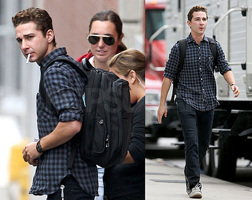 Photos of Shia LaBeouf, Carey Mulligan Filming Wall Street 2 Money Never Sleeps