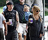 Slide Photo of Nicole Post Baby Sparrow with Harlow, Benji and Joel Madden