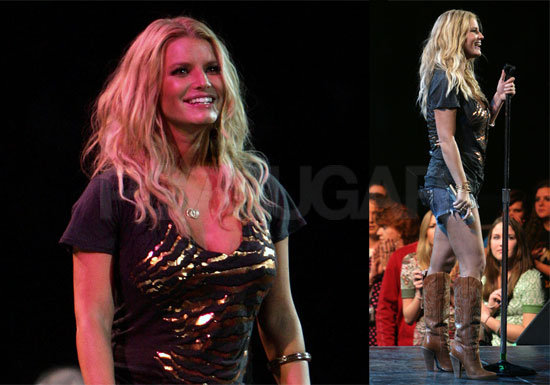 Jessica Simpson Performing in Daisy Dukes