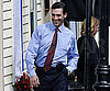 Slide Photo of Jon Hamm laughing in Boston on set of The Town