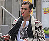 Slide Photo of Ed Westwick on The Set of Gossip Girl Wearing a Sweater