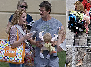 Photos of Katherine Heigl With New Daughter Naleigh Kelley and Josh Duhamel on the Atlanta Set of Life As We Know It
