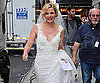 Slide Photo of Kim Catrall Wearing Wedding Dress While Filming SATC 2