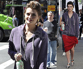 Photos of Mischa Barton on the Set of The Beautiful Life in NYC