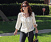 Slide Photo of Jessica Biel Leaving Friends House on Hollywood