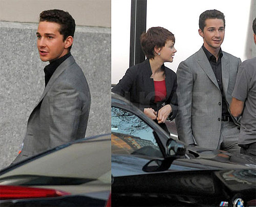 Photos of Shia LaBeouf and Carey Mulligan On the Set of Wall Street 2